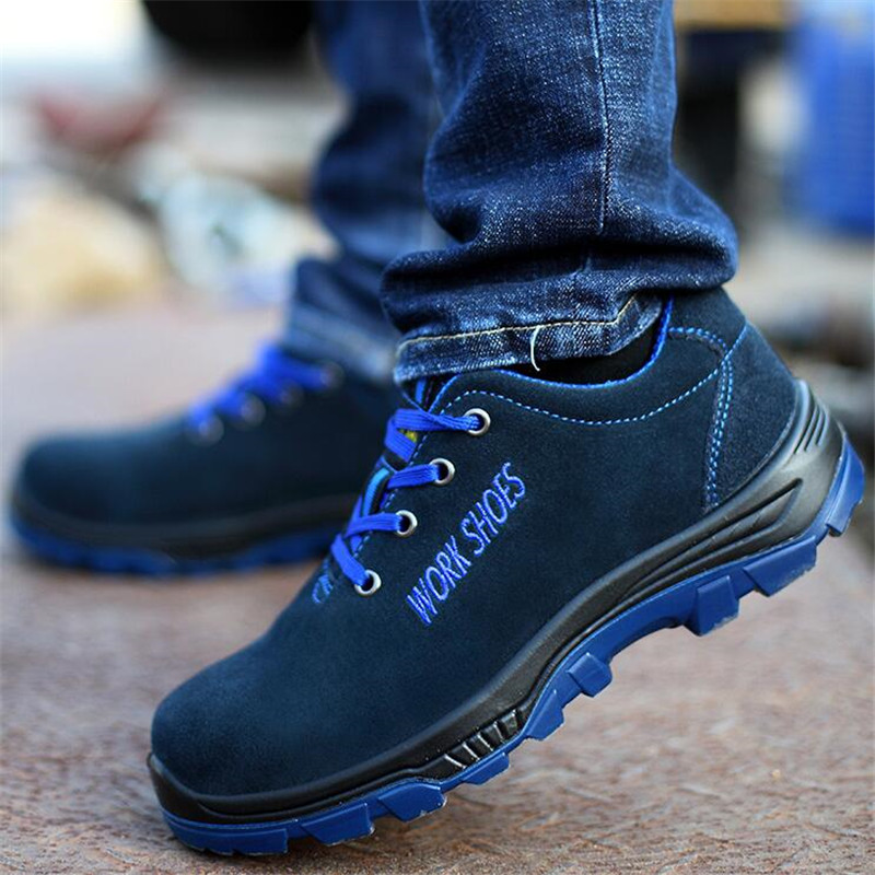 New Men Industrial Construction Men's Steel Toe Puncture Proof Shoes Work Safety Shoes Waterproof Indestructible Safety Boots image