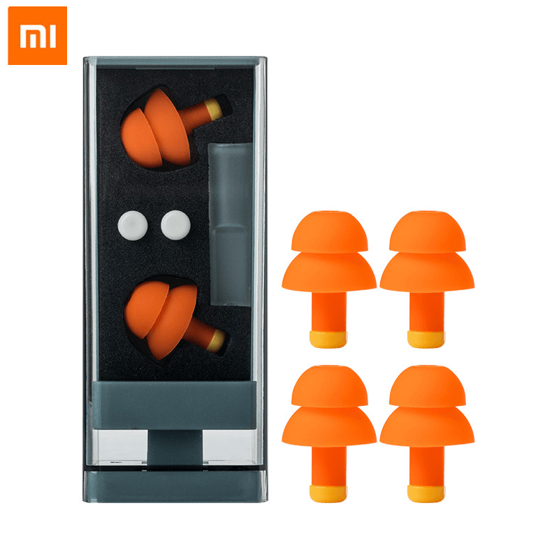 Xiaomi Jordan&Judy Earplugs For Sleep Noise Cancelling Sleeping Earplugs Comfortable Reusable Rebound Ear Plugs Noise Filter