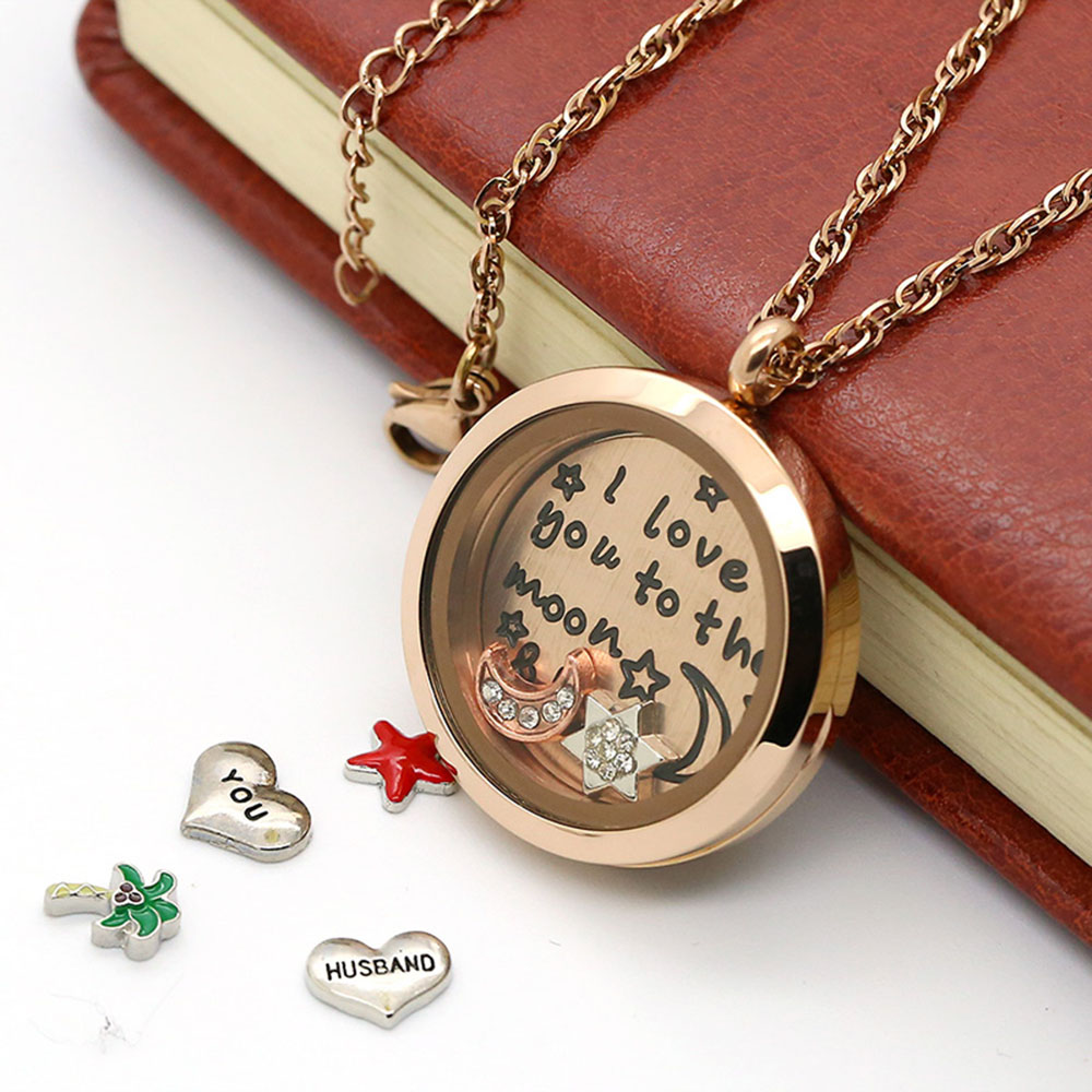 BOFEE Floating pendant charm necklace