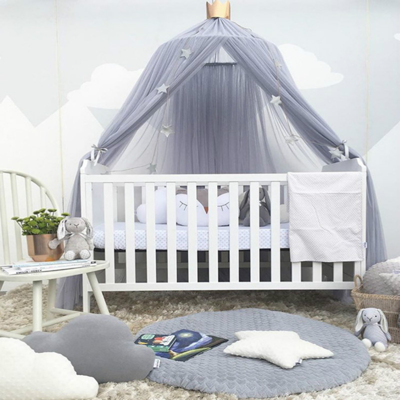 Hanging Round Dome Tent Baby Decoration Room Decor Canopy Bedcover Mosquito Net Curtain Home Crib Tent for Kids Baby Bed Bumper