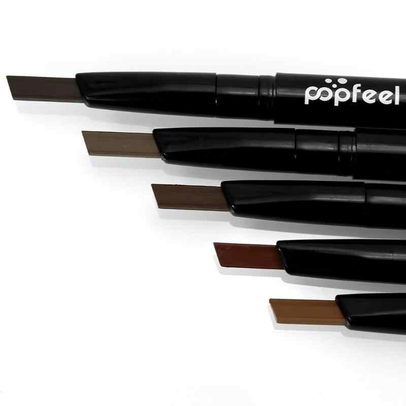 5 kolorów podwójnie zakończony ołówek do brwi z pędzelkiem dwie strony Microblading wodoodporny trwały grzywny szkic marker do brwi makijaż TSLM2