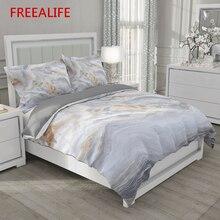 Simples cama de casal quilt cover 160x200 220x240 roupa de cama 3d luxo mármore preto branco capa edredão colcha 220 x220