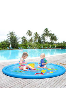 Sprinkler-Mat Pool-Playing Water-Spray-Pad Swimming-Pools Round Outdoor Kids Inflatable