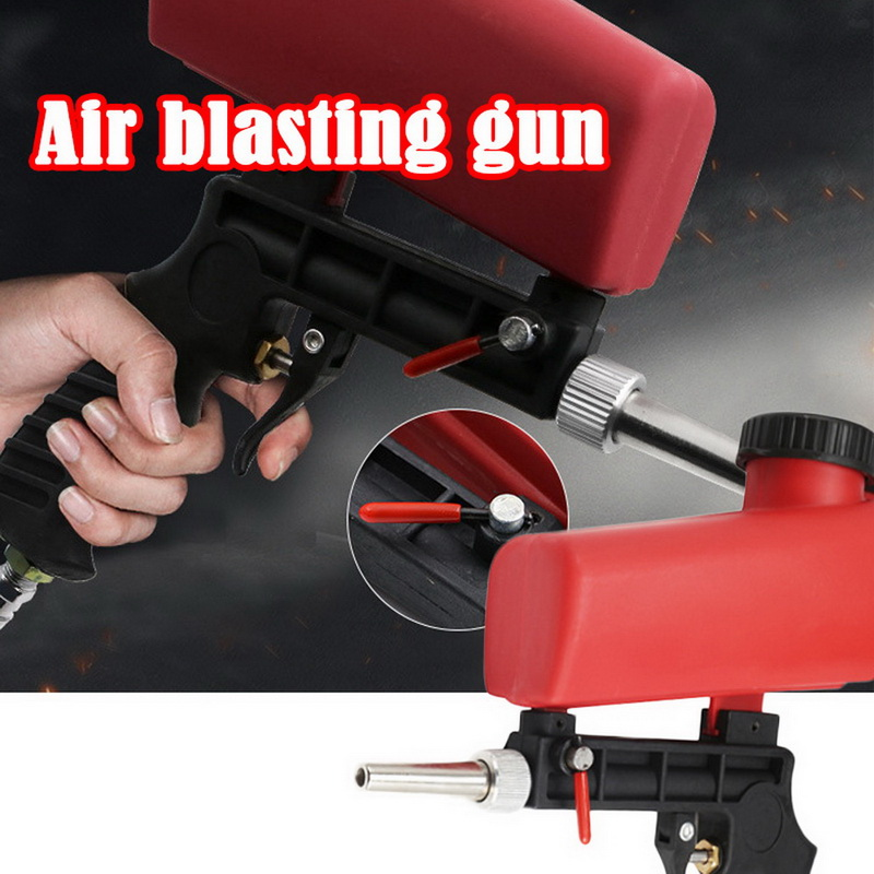 1pc  Sand Gravity Sandblasting Gun  90psi Pneumatic Sand Blasting Set Portable Anti Rust Protection Tool