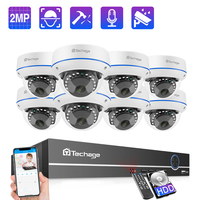 Techage 8CH 1080P POE NVR Kit Security Camera System 2.0MP HD Dome IP Cameras IR Indoor Night Vision CCTV Video Surveillance Set