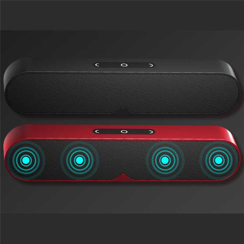 F1 Plus Bluetooth Speaker Portable Wireless Computer Speaker Sound System 3D Stereo Bass Outdoor Loudspeaker for TF USB AUX D30