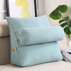 Большая треугольная подушка для дивана, поясные подушки для офиса, подушка для спины, подушка для кровати, подушка для шеи, стул, удаленная, ...
