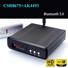 TA12 CSR8675 AK4493 بلوتوث 5.0 استقبال مجلس فك DAC HiFi محول الصوت APTX HD وحدة صوت لاسلكية