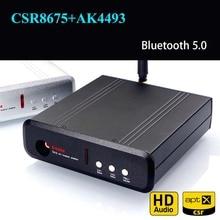 TA12 CSR8675 AK4493 Bluetooth 5.0 tablica odbiorcza dekodowania DAC HiFi adapter audio APTX HD bezprzewodowy moduł audio