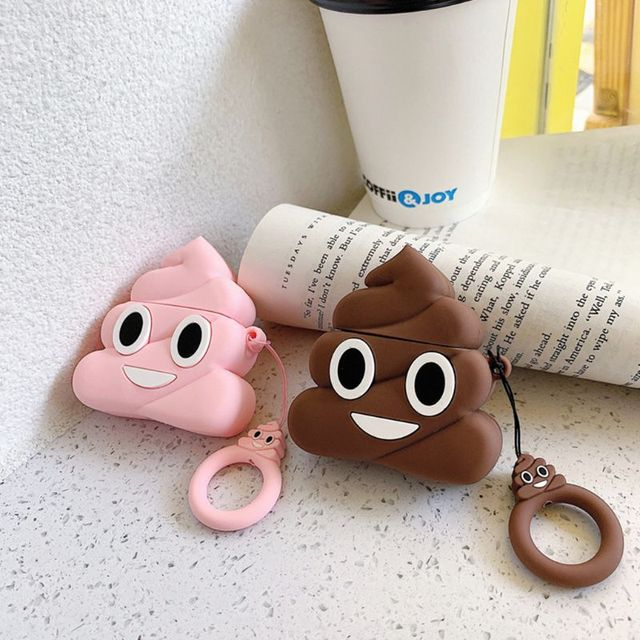 Funny Poop Pattern Airpods Case
