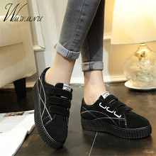 Harajuku Canvas Shoes Platform Streetwear Women Flat Sport R