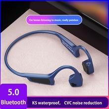 Yüksek kaliteli kemik iletim kulaklığı kablosuz bluetooth 5.0 kablosuz kulaklıklar spor su geçirmez bluetooth kablosuz kulaklık
