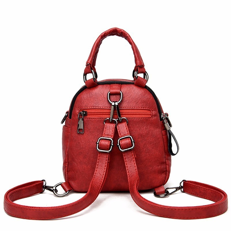 Image 3 - High Quality Female Multifunction Leather Backpacks 2019 Women 