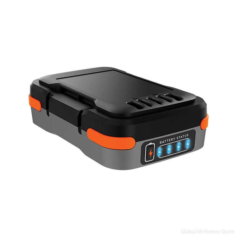 Xiaomi Youpin Black & Decker 12 gopack broca elétrica de lítio de Três-Garra Braçadeira Stepless Interruptor de Velocidade Variável