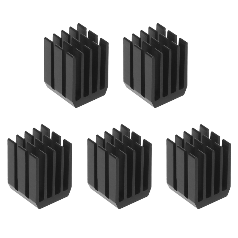 5Pcs/Set 9*9*12mm Aluminum Cooling Heat Sink Chip RAM Radiator Heatsink Cooler