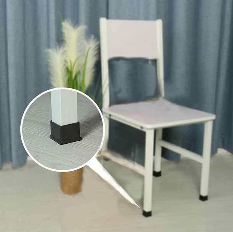 1pcs Anti-SLIP เก้าอี้ขาตัวเก้าอี้โต๊ะเก้าอี้ขาเฟอร์นิเจอร์ Cube ฟุตขาเก้าอี้หมวกสีดำ