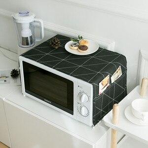 Capa para forno de micro-ondas, acessórios para decoração caseira e cozinha