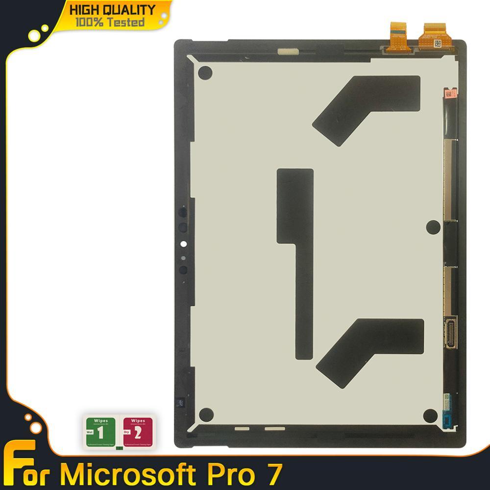 Original tablet lcd para microsoft surface pro 7 1866 display lcd de toque digitador da tela vidro assembléia peças reposição testado