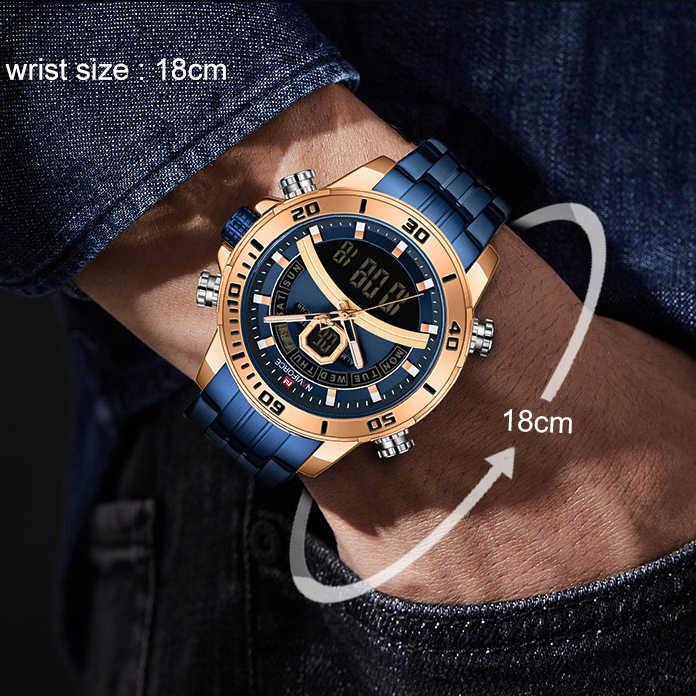NAVIFORCE Männer Uhr Top Luxus Marke Blau Große Sport Uhren Herren Chronograph Quarz Armbanduhr Edelstahl Männliche Uhr Reloj