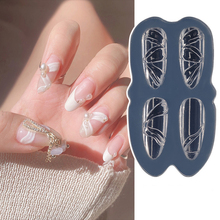 1Pcs 3D Silicone Mold Nail Carving Stamping Plate UV Gel Polish Manicure Mould DIY Nail Art Decorations Tools Fashion