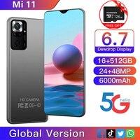 Xio mi Mi 11 6.7 pollici Smartphone 16 512G 6000mAh supporto batteria Google Play WiFi 4G 5G sbloccato versione globale Android Celular
