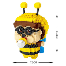 hot LegoINGlys creators classic lovely cartoon CHICHI bee mini micro diamond building blocks model nano bricks toys for gifts стоимость