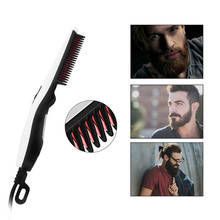 Electric Beard Straightener Hairbrush Iron Comb Salon Hair Styling Too