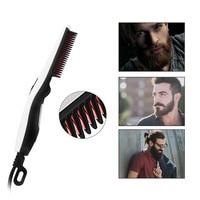 Hairbrush Hair Straightener Brush Electric Professional Straightening Flat Iron Styling Beard Hot Comb For Men Women 110-240V 40