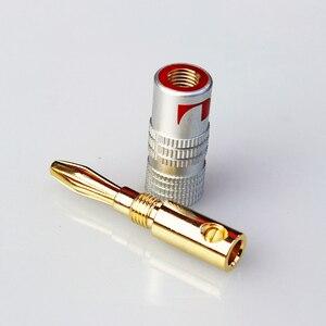 4 шт., коннектор типа «банан», 4 мм, штекер типа «банан», 24 К, медь, позолоченный, 4 мм, коннектор типа «банан», 4 мм