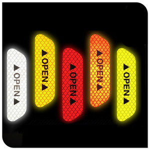 Car door warning signs with reflective stickers for McLaren MP4-12C X-1 650S 540C P1 12C(China)