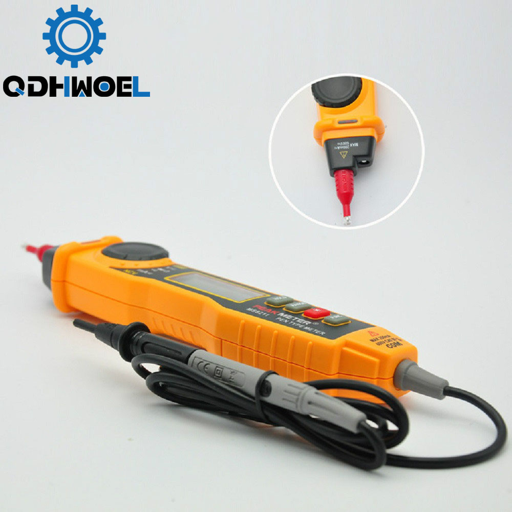 MS8211 Digital Multimeter With Probe ACV/DCV Electric Handheld Tester Multitester Digital Professional