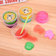 5D crystal color clay ultra light plastic creative manual DIY6 mud gift box toys for children