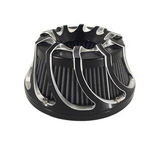 Image 4 - Çok açılı hava temizleyici hava filtresi kasırga spiral için Harley Sportster XL 1200 Dyna 00 17 Softail 3.00 18 Touring FLHX FLHR NESS