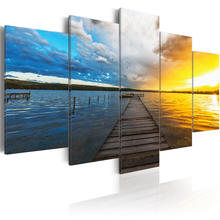 5 панелей современное настенное искусство красочный пейзаж Постер