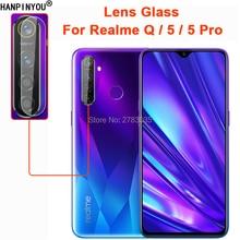 Pour OPPO Realme 5/5 Pro/Q clair Ultra mince arrière caméra lentille protecteur arrière caméra Len couverture verre trempé Film de Protection