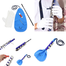 5-in-1 Saxophone Cleaning Care Set Sax Cleaning Care Kits Cleaning Rod Mini Screwdriver Accessory Parts