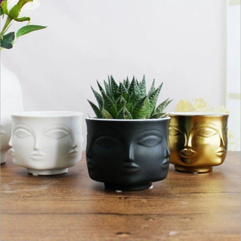 Купить скандинавское украшение керамический цветочный горшок для лица