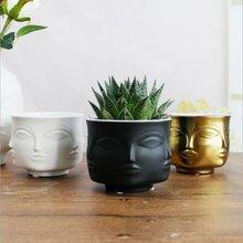 Скандинавское украшение керамический цветочный горшок для лица