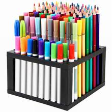 Multi-functional Detachable 96-hole Square Shelf Pen Holder Office School Storage Case  Art Office Supplies