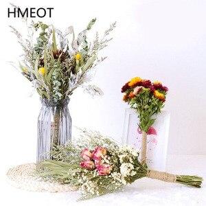 Hot 40cm Dried Flower Bouquet Art DIY Manual Dried Plants Arrangement Collocation Photography Props Gypsophila Home Decoration