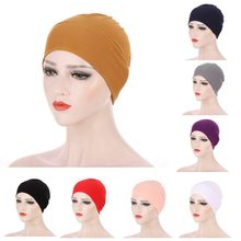 New Turban hats for women Satin Breathable Silky Headwrap Caps Chemo Beanies Headwear for Cancer head scarf women