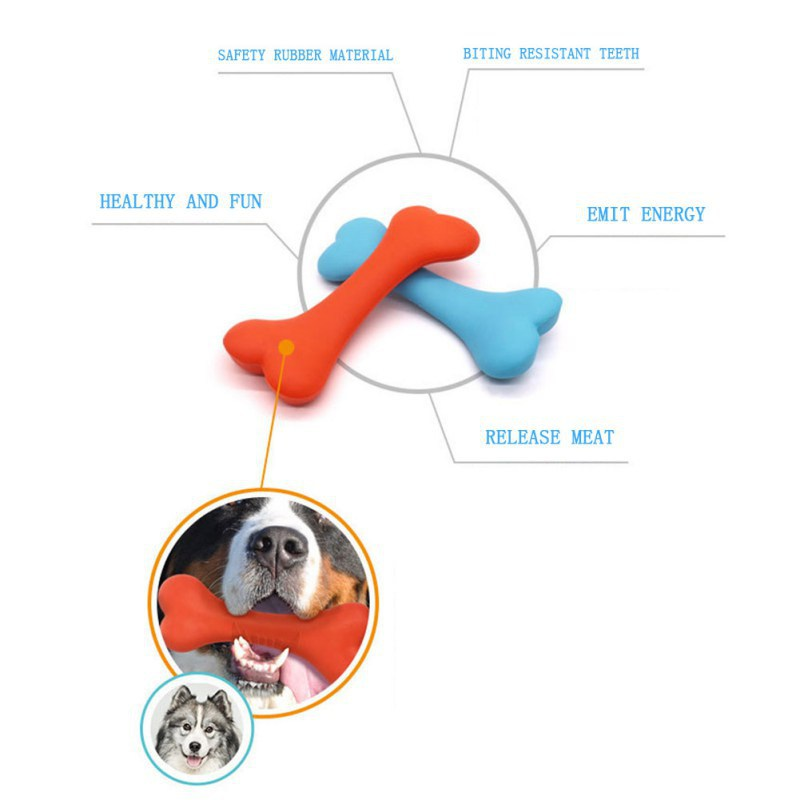 Durable Rubber Dog Toy with Thorn Teeth Molar Pet Rubber Toy Bone Resistant Bite Toy Dog Chew Toys Training in Dog Toys from Home Garden