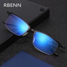 RBENN – lunettes de lecture TR90 ultralégères pour hommes, monture métallique Anti-lumière bleue, presbytes avec dioptrie + 0.75 1.25 1.75 2.25 4.5