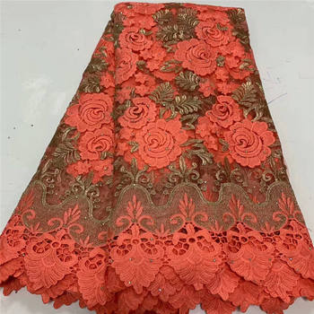 African Stones Lace Fabric 2020 High Quality Lace French Net Embroidery Tulle Lace Fabrics For Nigerian Party Dress