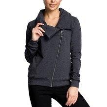 2019 Autumn Winter Jackets Women Fashion Pocket Zipper Outerwear Female Casual Solid Color Turtleneck Irregular Coat