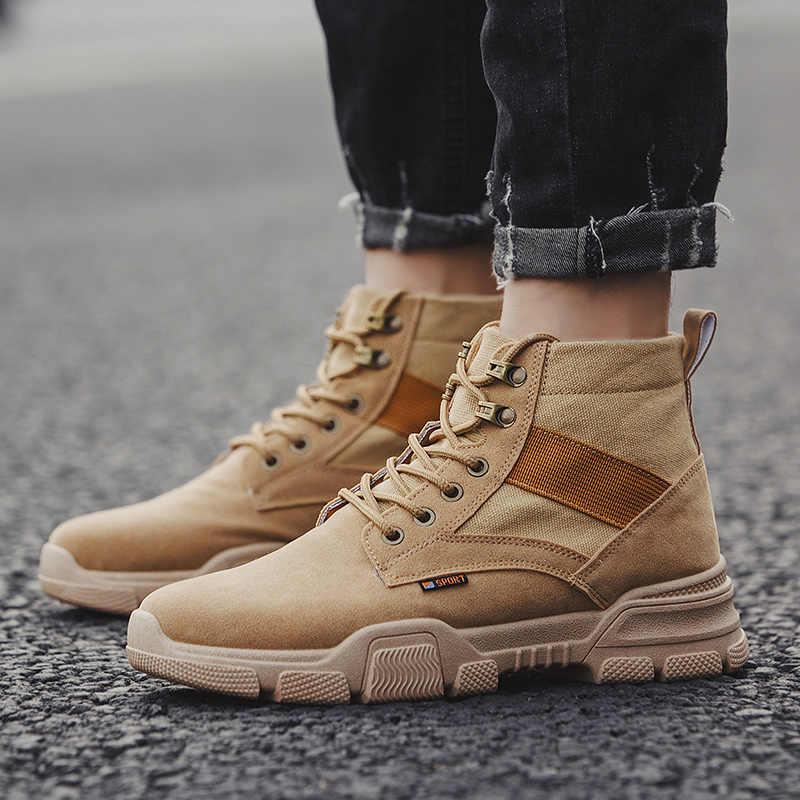 2019 Herfst Mannen Casual Schoenen Mode Mannen Loafers Comfortabele Toevallige Mannelijke Loafers Ademende High-top Werkschoenen Mannelijke HC-341