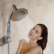 Ручной душ высокого давления 6 дюймов разбрызгиватель портативный Душ 360 Вращающийся душ для ванной комнаты Замена душевой головки