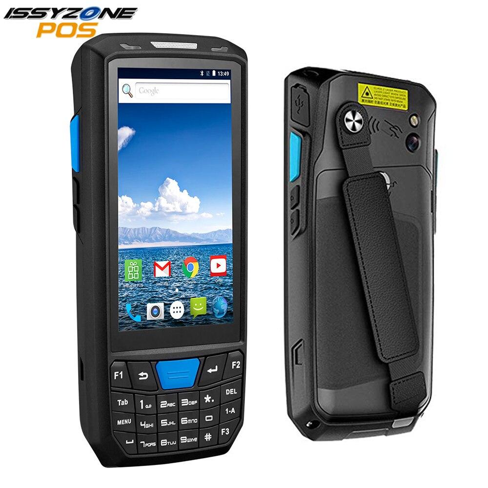 Issyzonepos android 8.1 pda handheld scanner 1d 2d pos terminal sem fio wifi 4g bluetooth armazém entrega de inventário expresso