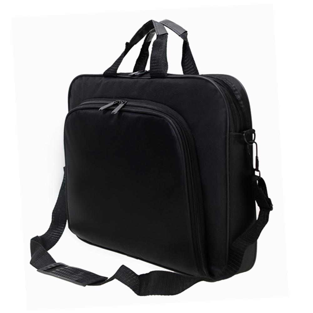 Image 3 - ALLOYSEED Business Laptop Bag Portable Nylon Computer Handbags Zipper Shoulder Simple Laptop Shoulder Handbag Briefcase Black-in Laptop Bags & Cases from Computer & Office