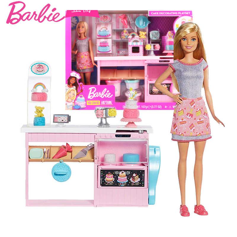 Nueva Muneca Barbie Original Postre De Barbie Simulacion